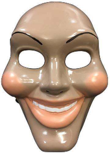 The Purge Original Face Movie Mask – Halloween Fancy Dress Up Costume – Universal Size – Hard Plastic