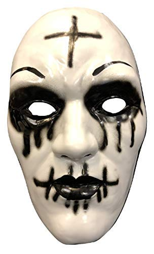 UK The Purge Original Cross Deluxe Halloween Hard Plastic Mask With Elasticated Strap From The Anarchy Movie