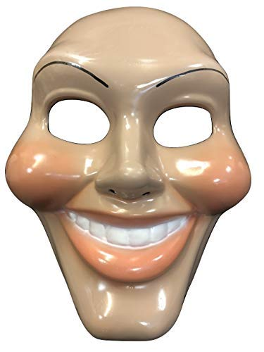 UK The Purge Original Face Deluxe Halloween Hard Plastic Mask With Elasticated Strap From The Original Movie