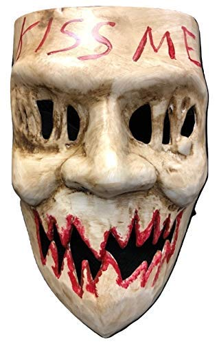 UK The Purge Original KISS ME Deluxe Halloween Hard Plastic Mask With Elasticated Strap From Election Year Movie