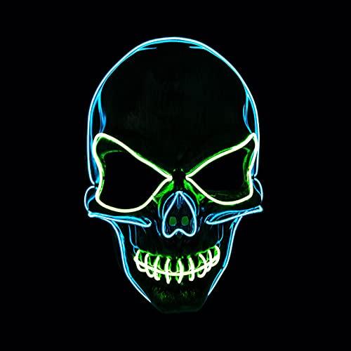 Voneta Halloween LED Light Up Mask Specially Designed for Halloween Party Cosplay LED Mask (Skeleton)
