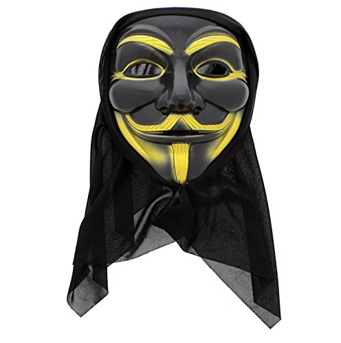 Zac's Alter Ego Anonymous Guy Fawkes Mask with Black Cloth to Cover Head
